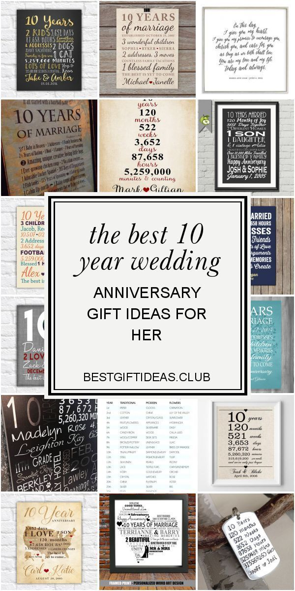 The Best 10 Year Wedding Anniversary Gift Ideas For Her 10 Year Wedding Anniversary Gift Anniversary Gifts Wedding Anniversary Gifts