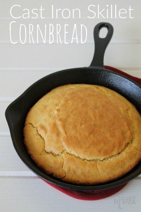 Cast Iron Skillet Cornbread Recipe http://momwifebusylife.com/cast-iron-skillet-corn-bread-recipe/