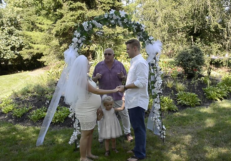 Our officiant is really special to us because he married my brother Andrew and my sister-in-law Moriah!