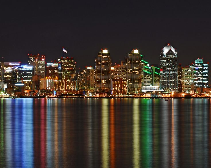 San Diego, California. I miss looking at this skyline!