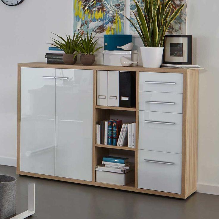 Die besten 25+ Sideboard hochglanz Ideen auf Pinterest - wohnzimmer vitrine weis hochglanz