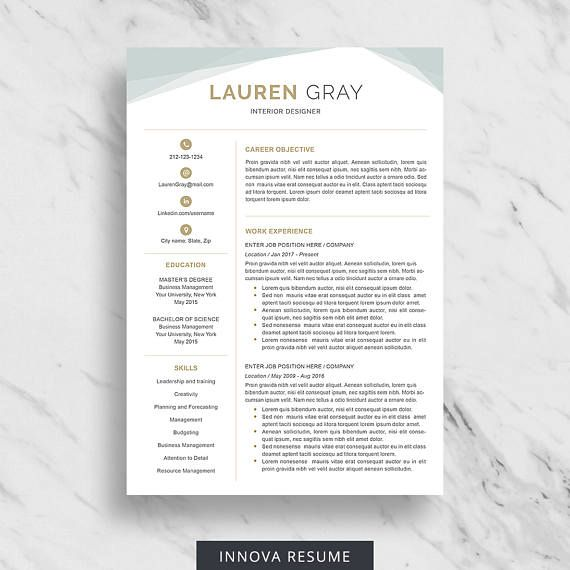 Creative Resume Template For Word Resume Design Template Teacher Resume Template Resume Template Professional