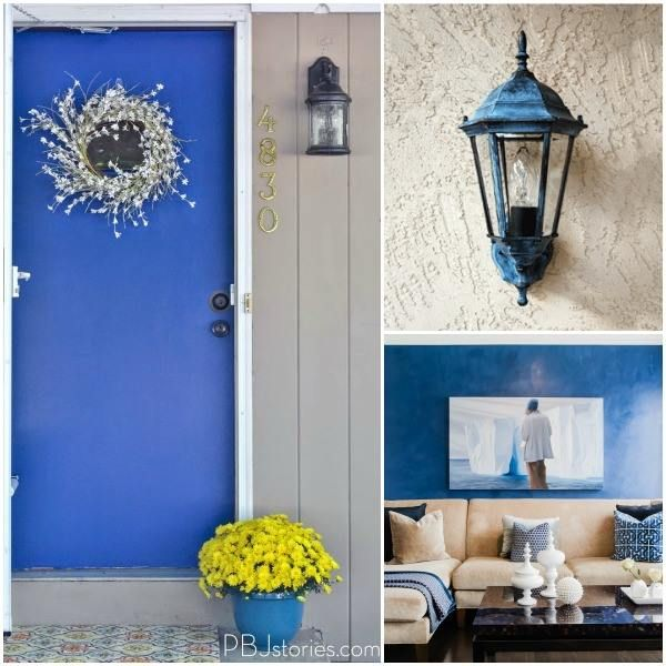 Rhapsody In Blue Here You Can See Pb Jstories 39 Front Door Paint Makeover In The Color Calm A