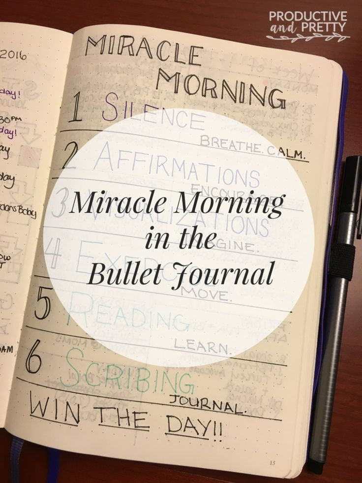 Miracle Morning using the Bullet Journal
