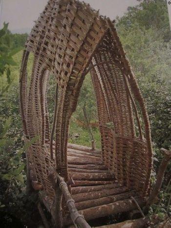 Foot bridge Tiebele, Burkina Faso, West Africa