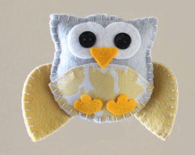 Mini Felt Owl project - Sefef from Down Grapevine Lane