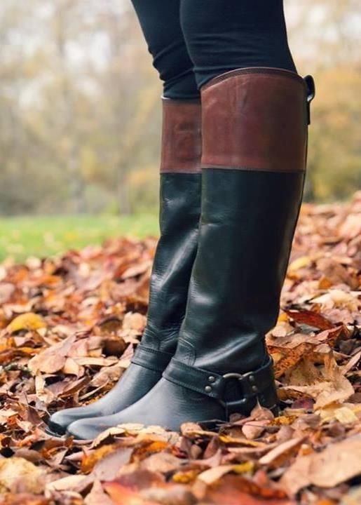 Beautiful. It's fun to see how riding boots have become fashion accessories over the past few years.Shoes, Style, Leather Rid, Leather Boots, Rid Boots, Fashion Accessories, Riding Boots, Fall Boots, Tone Leather