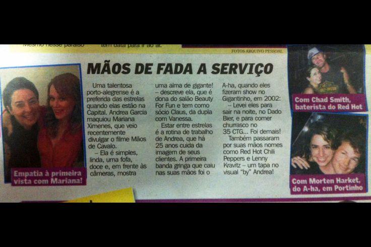 Job Camarim Portatil Andrea Garcia no Jornal Diario Gaucho