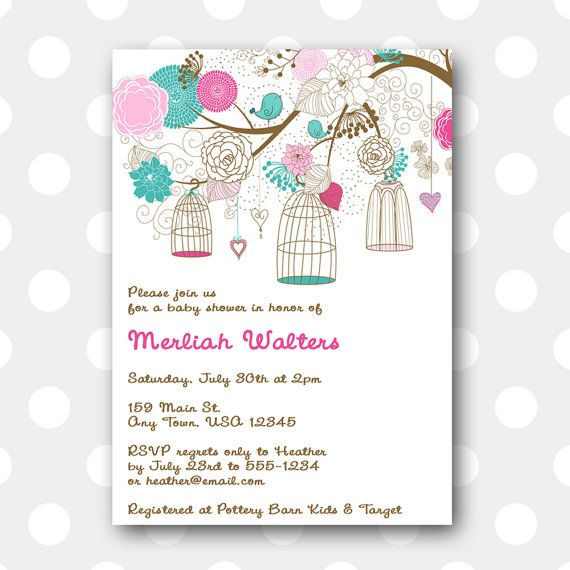 Printable Party Invitation  Mama Bird by inglishdigidesign, $10.00Printables Baby, Birds Birdcages, Baby Shower Invitations, Printables Invitations, Baby Ideas, Mama Birds, Invitations Mama, Invitations Ideas, Parties Ideas