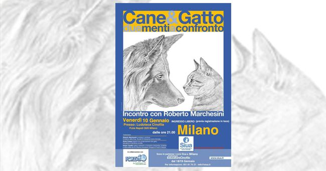 Cane&Gatto due menti a confronto, venerdì 10 a Milano