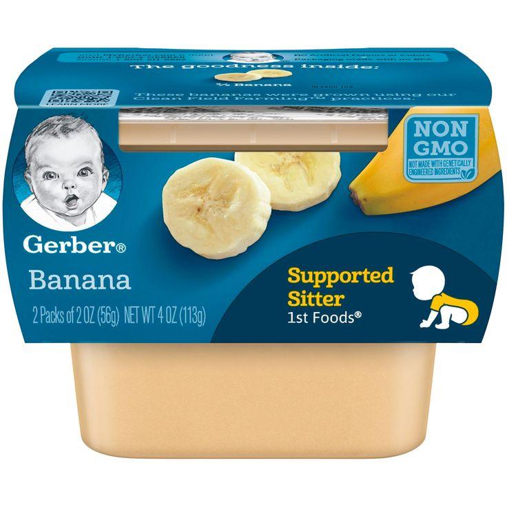 Gerber baby 1st foods banana 2oz2ct banana baby food