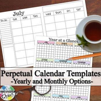 Počet Nápadov Na Tému Yearly Calendar Template Na Pintereste: 17