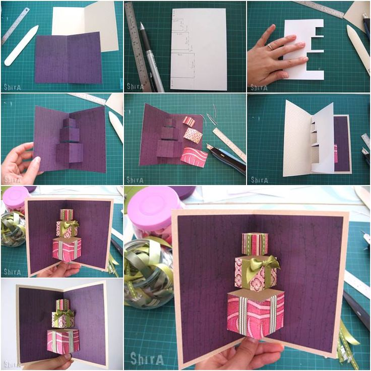How to DIY 3D Gift Box Pop-up Card