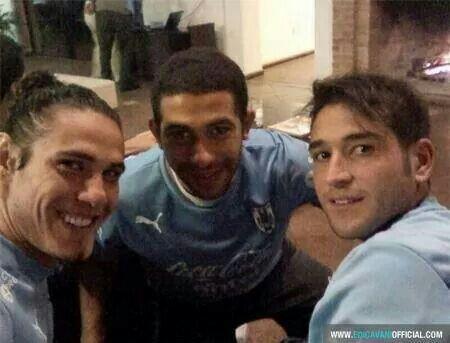 Cavani,  Gargano and Lodeiro.  Uruguay team!