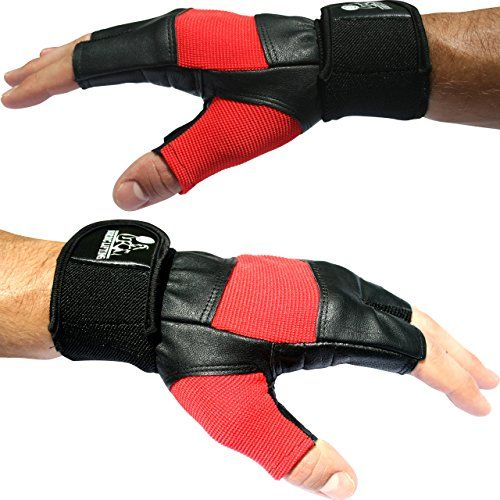 Gym Gloves Weight Lifting Leather Workout Wrist Support: Weight Lifting Gloves With 12 Wrist Support For Gym