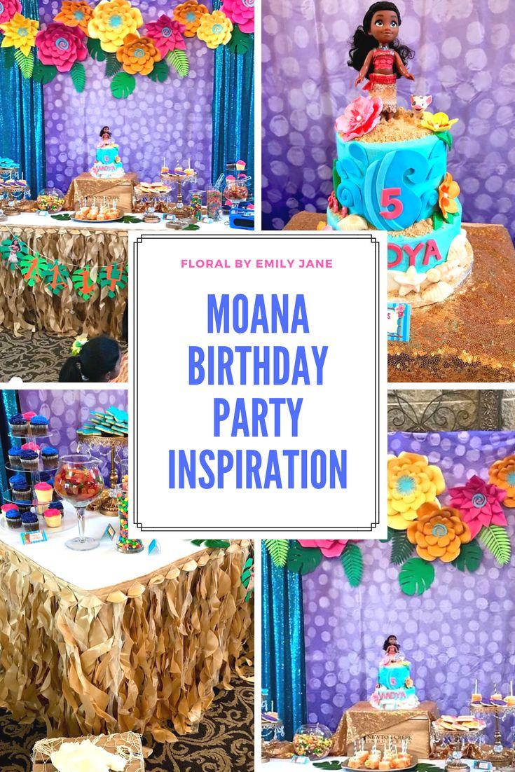 Disneys Moana Paper Flower Birthday Party Inspiration Birthday