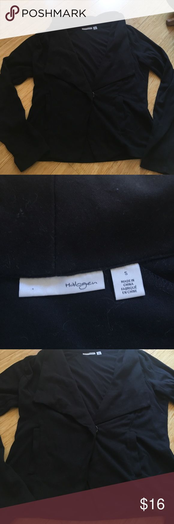 Cute blazer jacket. With pockets. Snap button. Cute blazer jacket. With pockets. Snap button. Great collar and neck line. Halogen Jackets & Coats