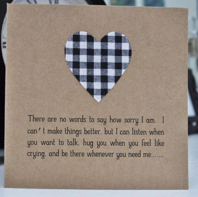 Sensitive Handmade Sympathy Card