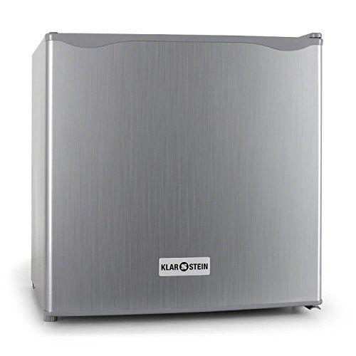 Klarstein – Mini frigo silencieux 50L – Minibar avec compartiment pour bac à glacons (acier inoxydable, 1 étagère, classe d'énergie A+): Le…