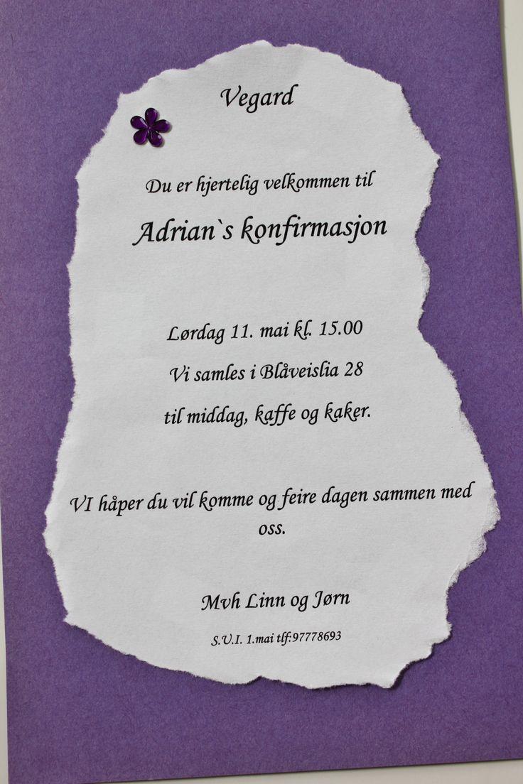 Invitasjoner | Pynt Til Fest