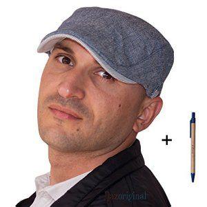Dazoriginal Flat Cap Bleu Chapeau plat Coton Mens Casquette Plate Traditionnelle Casquette homme Casquette Gavroche Duckbill casquette…