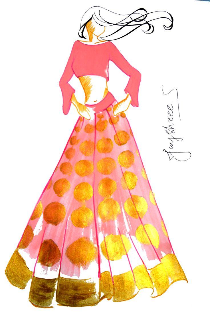 fashion, fashion design, fashion sketches, fashion art, fashion illustration, fashion clothing, ethnic fashion, indian fashion, indian fashion sketches, raw mango fashion, jayshree sridhar design, jayshree sridhar sketches, art wardrobe, indian fashion illustrator