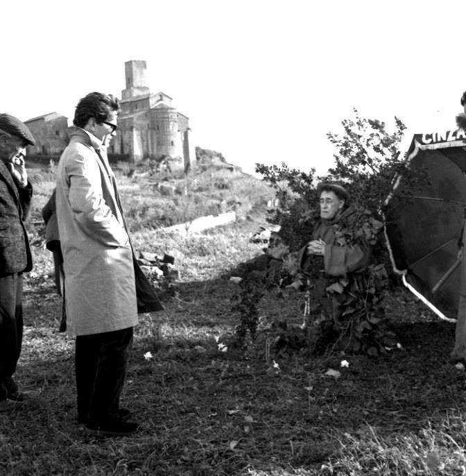 """Pier Paolo Pasolini e Totò """"Uccellacci e uccellini,1966"""