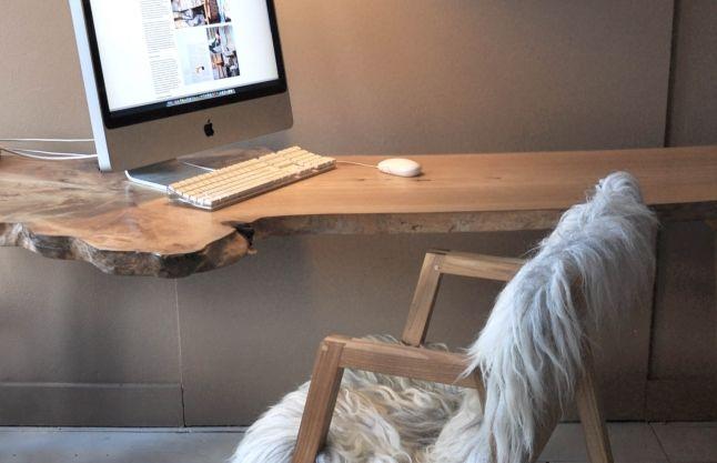 Melle Koot ontwerpstudio ::: dutch design ::: meubel & interieurontwerp ::: duurzaam designer - Boomstam tafel, buro MOOI!!