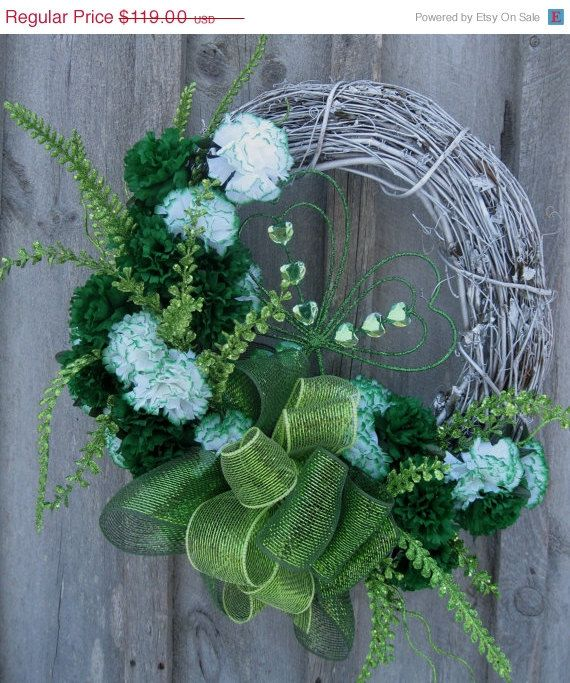 Year End Clearance Sale St Patricks Day Wreath by NewEnglandWreath, $89.25