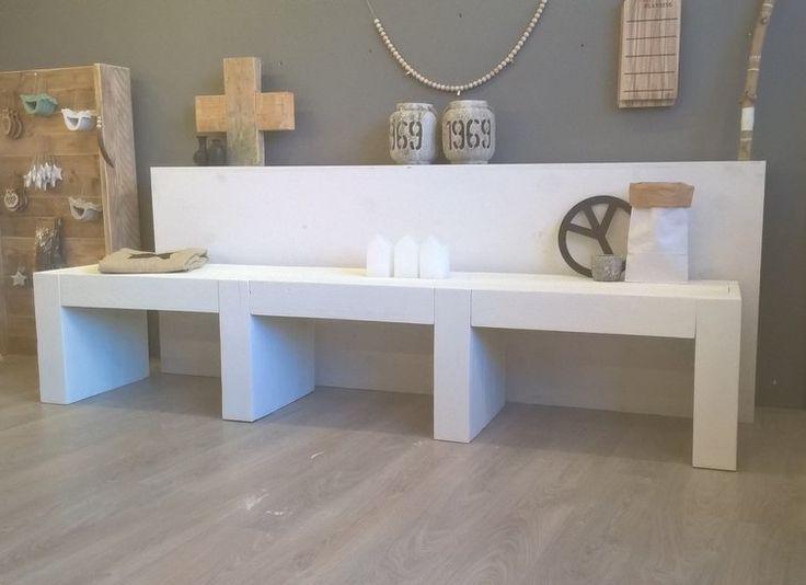 Wit steigerhouten TV meubel - Mooie steigerhout meubels! - De Houttwist