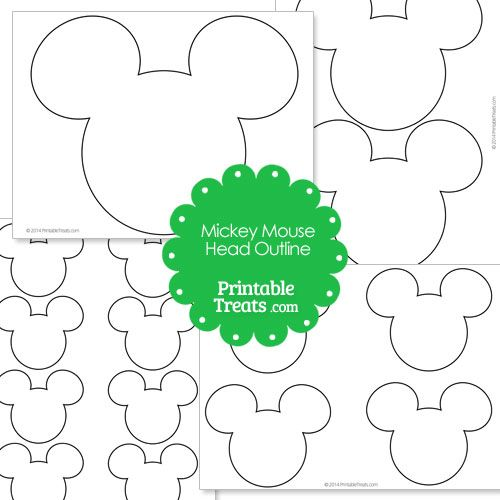 Printable Mickey Mouse Head Outline - LivingMiVidaLoca.com
