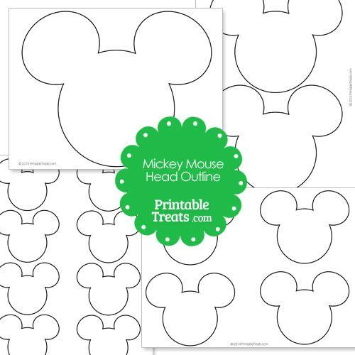 Printable Mickey Mouse Head Outline - LivingMiVidaLoca.com