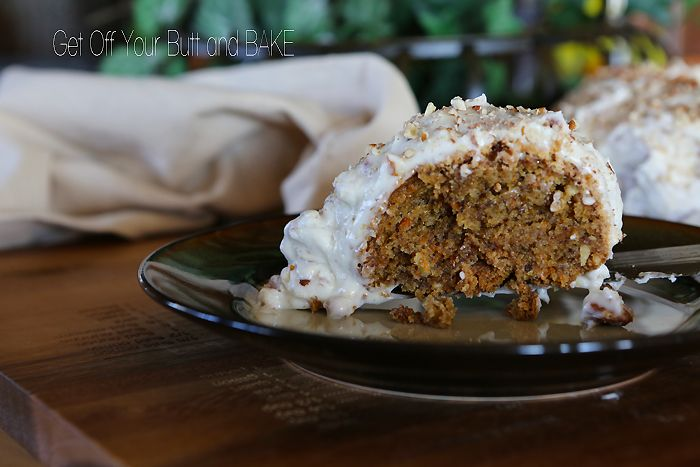 CARROT CAKE with Cream Cheese Pecan Frosting » Get Off Your Butt and ...