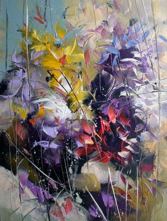 Fourre-tout Escamotée - Peinture Florale Abstraite Par Vida Vida ITYjy7Grct