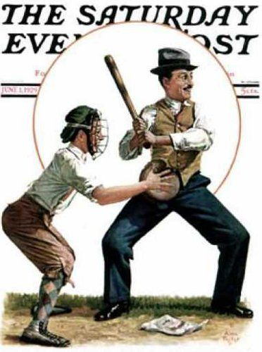 *Dad At Bat...Alan Stephens Foster (1892 –1969) (that stance... THAT STANCE)