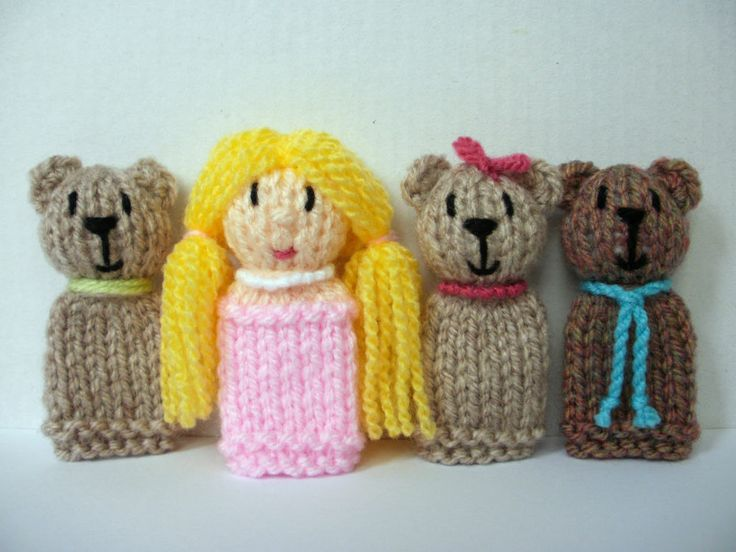 1000+ images about ? Crochet Knit Finger Puppets ? on Pinterest Toys, Knit ...