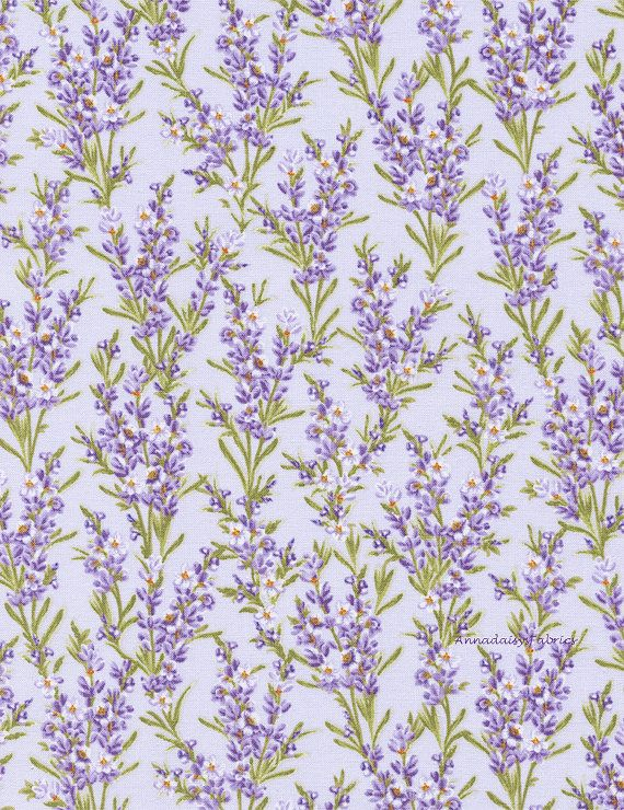 Lavender Floral Fabric Timeless Treasures by AnnadaisysFabrics