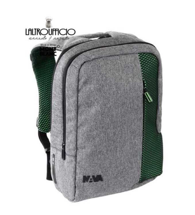 ZAINO TF071GAP   NAVA DESIGN - NYLON/POLIESTERE  SMALL GREY/APPLE NOVITA