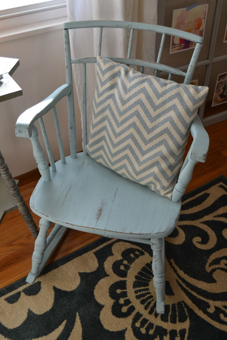 Bentwood rocking chair makeover - Mint And Gold Accent Table Painted Rocking Chairschair Makeovercountry