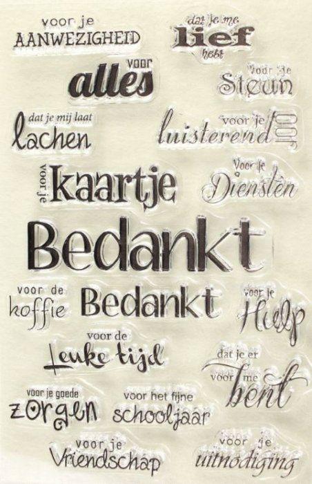 Joy!Cl.St.Teksten Bedankt - Stempelen - Stempels ‐Alfabetten en Teksten | MarZ Kreatiek