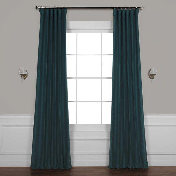 Freemansburg Room Darkening Thermal Rod Pocket Single Curtain