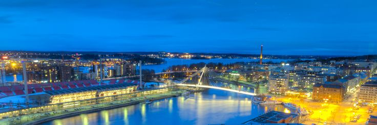 Tampere city centre, view to Laukontori market place and Laukonsilta bridge, photo by Juha Suhonen.