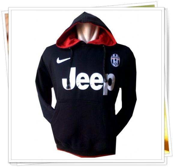 Jaket/Sweater Hoodie Bola - Juventus (Hitam)
