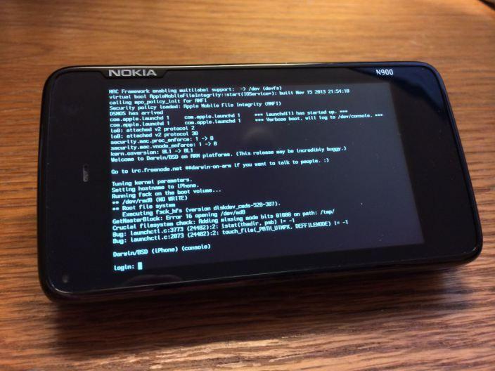 Nokia N900 cu iOS, pentru proiecte open source