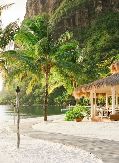 Sugar Beach, St Lucia.  Someday if I ever hit the lottery.  This place looks incredible.