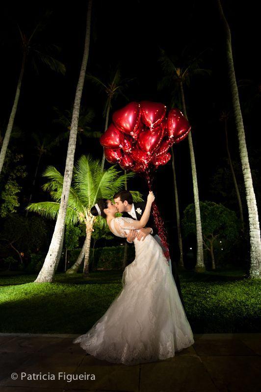 Foto de casamento de Mônica e Rafael