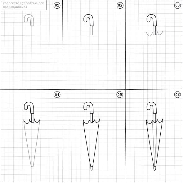 How to draw a umbrella.