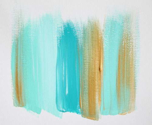 brush strokesGold Water Colors Painting, Color Schemes, Aqua Blue, Bedrooms Design, Design Bedrooms, Colors Schemes, Painting Ideas, Gold Wedding, Bedrooms Decor