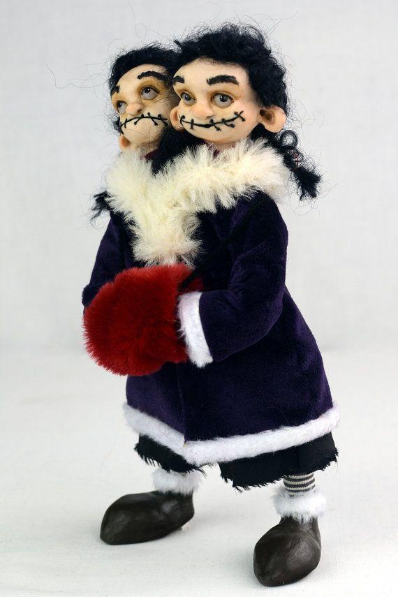 OOAK Gotik Puppe FAITH & GRACE Kunst Puppen von Linas4oClockFriends