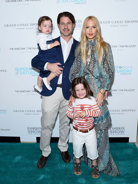 Designer stylist editor and author Rachel Zoe husband Rodger Berman and family arrive at Grand Canal Shoppes at The Venetian The Palazzo and Fashion...